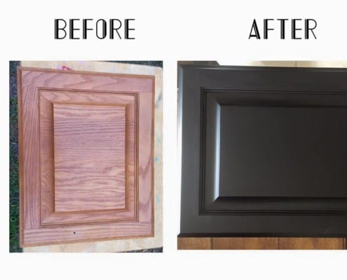 oak kitchen cabinets refinishing