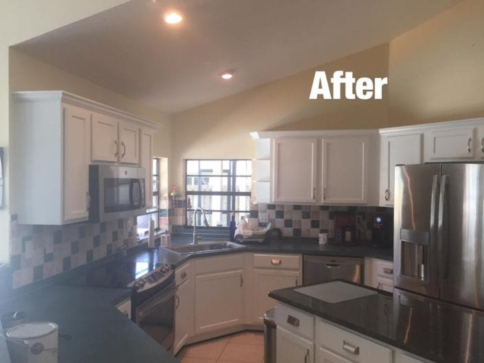 Becker Road Area Port Saint Lucie Kitchen Cabinets After 1 705x529 - Cabinet Refinishing