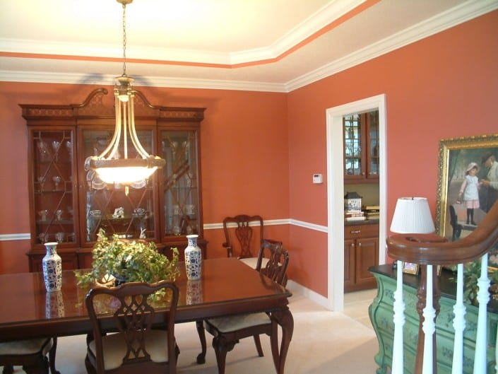 Red Dinning Room Avon Ohio House Painter 705x529 - Interior Painting