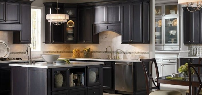 black cabinets 705x332 - Cabinet Refinishing