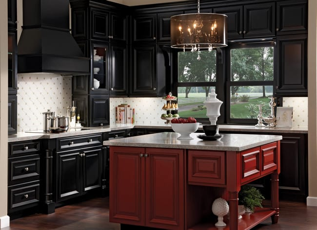black kitchen cabinets - Cabinet Refinishing