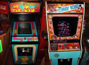 Ms. Pac Man  Donkey Kong   arcade cabinets 300x220 - Down Memory Lane: Generational Paint Trends