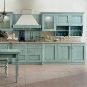 Painted oak kitchen cabinets